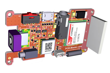 4-layer PCB layout for GPS/GSM tracker